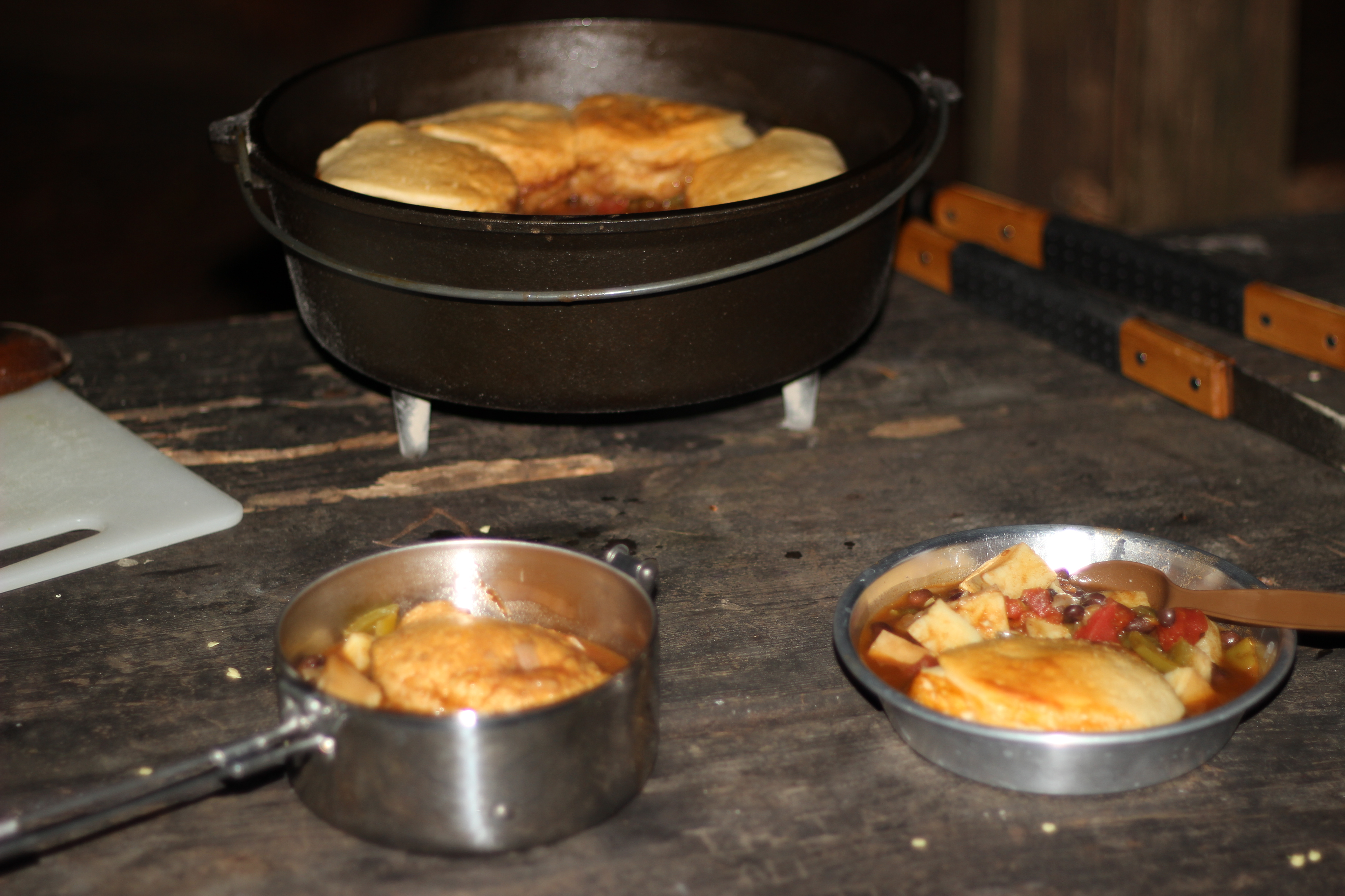 Yum! Camping Recipe: Spicy Black Bean and Sweet Potato Stew with Biscuits
