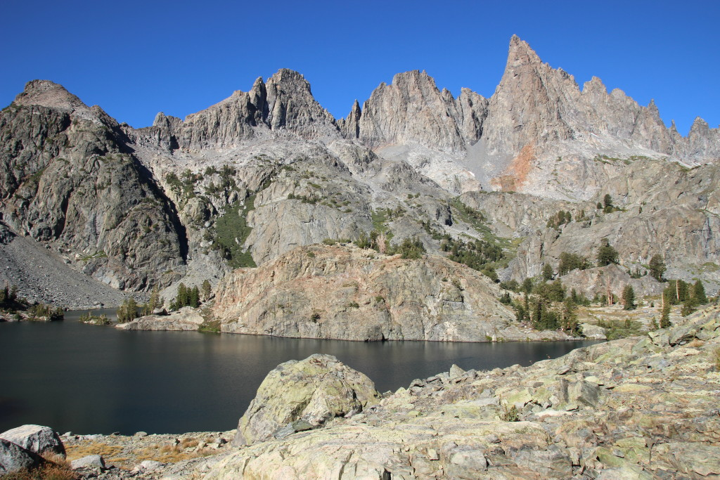 View of the Minarets from camp