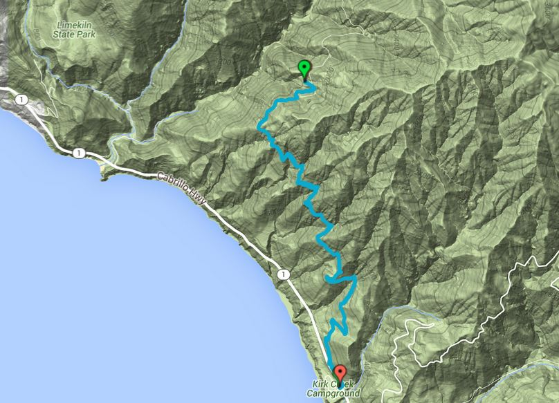 Vicente Flat Trail Map