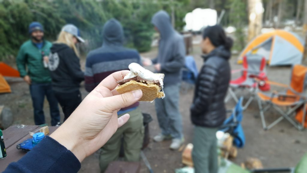 S'mores at Crater Lake